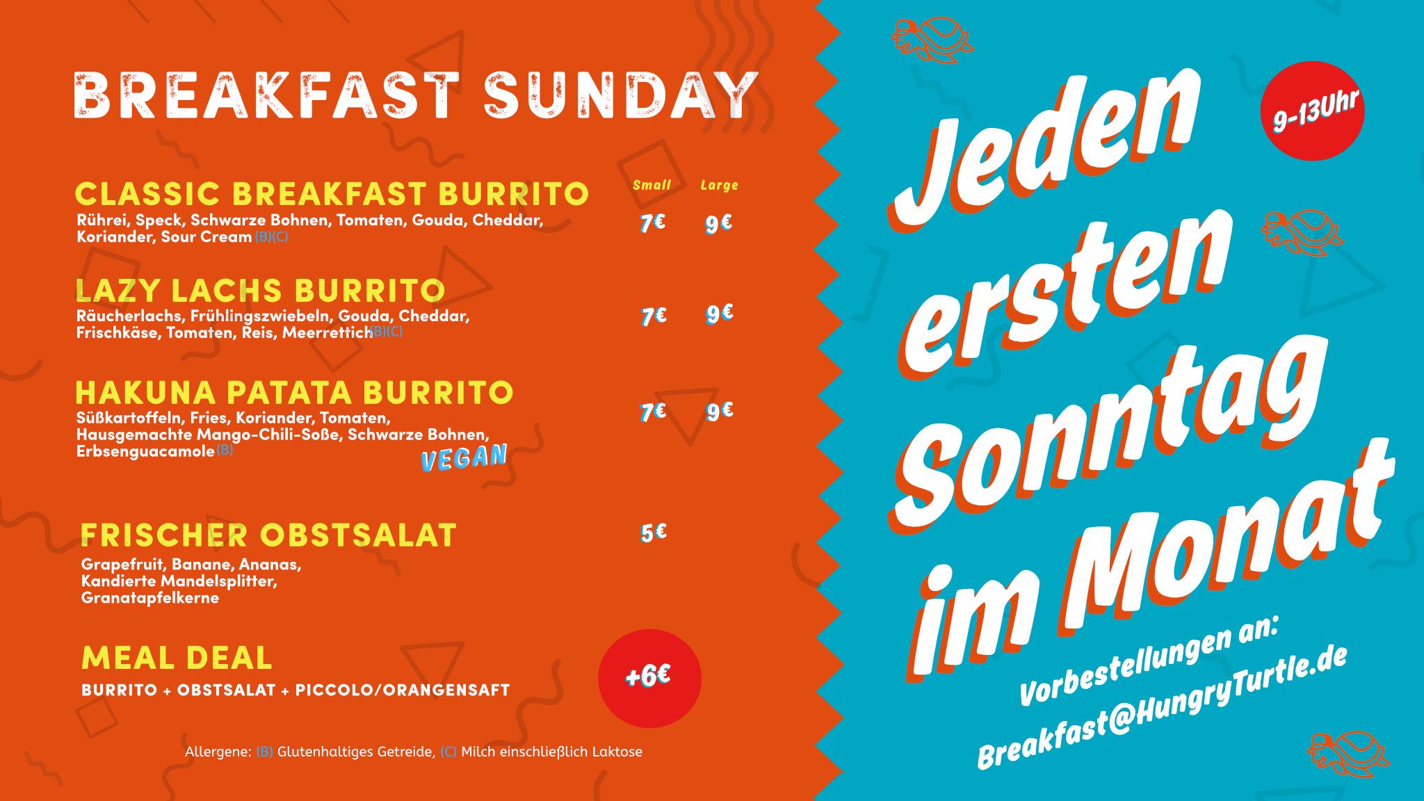 Breakfast Burritos Speisekarte